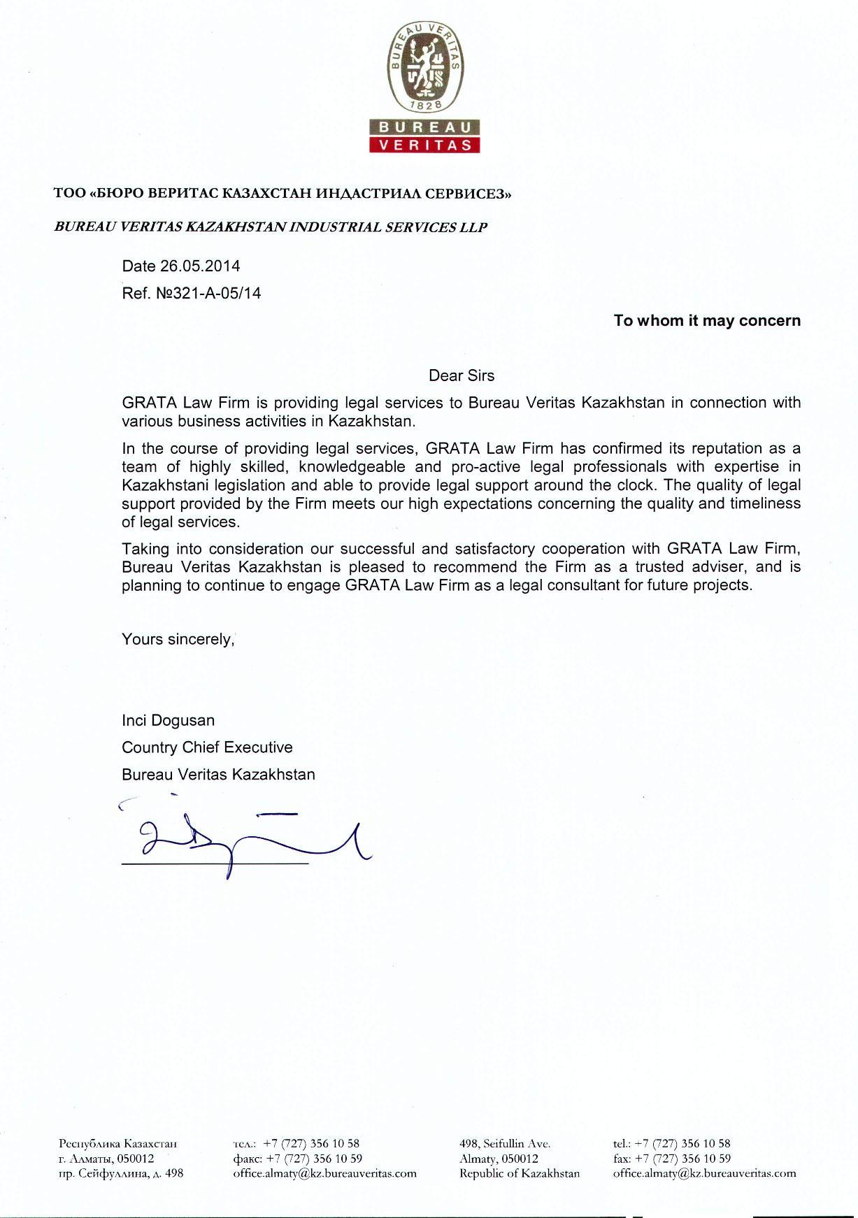 Grata international - Bureau veritas industrial services ...